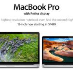 Apple actualiza sus MacBook Pro con Retina Display y reduce algunos precios.