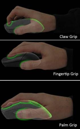 Tipos de mouse y agarres.