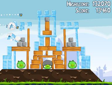 Físicas dentro de Angry Birds.
