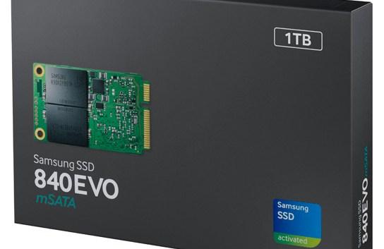 Samsung anuncia sus nuevas unidades SSD 840 EVO mSATA