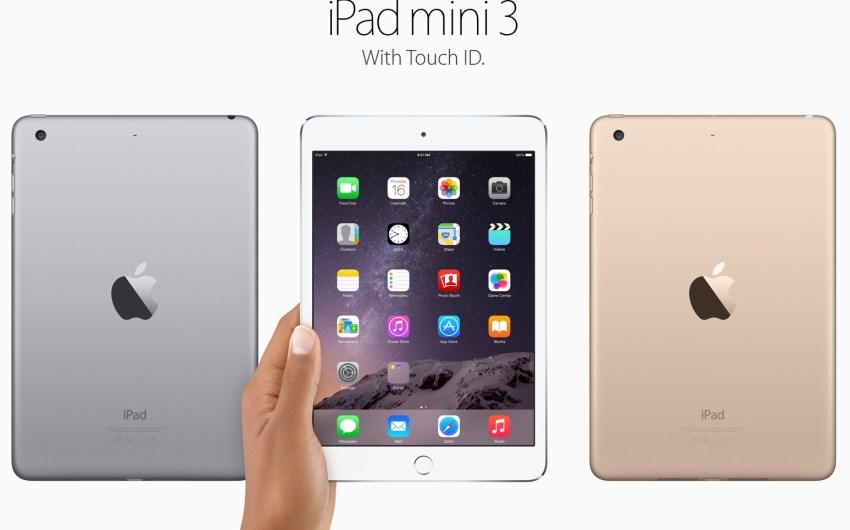 Apple también anunció el iPad Mini 3 con Touch ID.