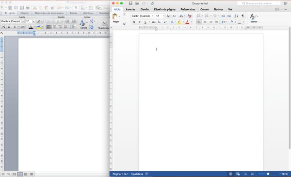 Office 2011 vs Office 2016