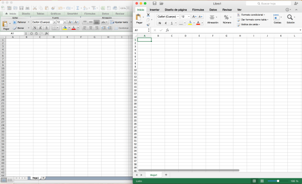 Excel Office 2011 vs Office 2016