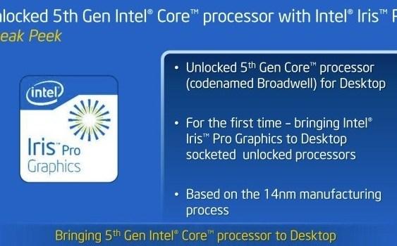 Revelados los Intel Core i7-5775C y Core i5-5675C con Iris Pro Graphics 6200