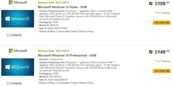 Newegg_Windows_10_Pricing