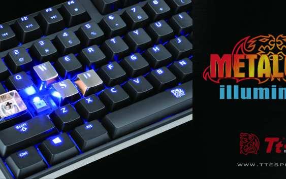 Tt eSports presenta sus teclas MetalCap Iluminadas, especial para Gamers