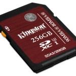 Kingston amplía la capacidad de su gama más rápida de tarjetas de memoria a 128GB y 256GB