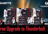 Nuevo firmware brinda soporte para Thunderbolt 3 en placas Gigabyte Z170
