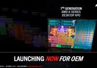 """AMD lanza sus APU de escritorio A-Series """"Bristol Ridge"""" (7°-Gen) AM4 y con soporte DDR4"""
