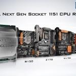 Las Motherboards Serie 100 de ASRock soportan los nuevos procesadores para Socket 1151 de Intel®