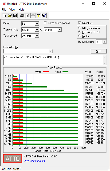 Intel OPTANE + HDD