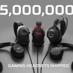HyperX vende ¡5 millones de audífonos para videojuegos!