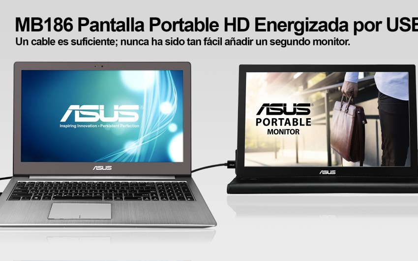 ASUS presenta en Chile su pantalla portable MB168B (USB 3.0)
