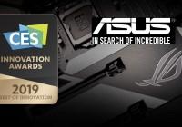 ASUS y ASUS Republic of Gamers Products galardonados con los Premios de Innovación CES 2019
