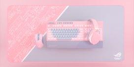 ASUS ROG Anuncia Línea Limitada PNK LTD de Teclado, Mouse, Headset, y Desk Mat