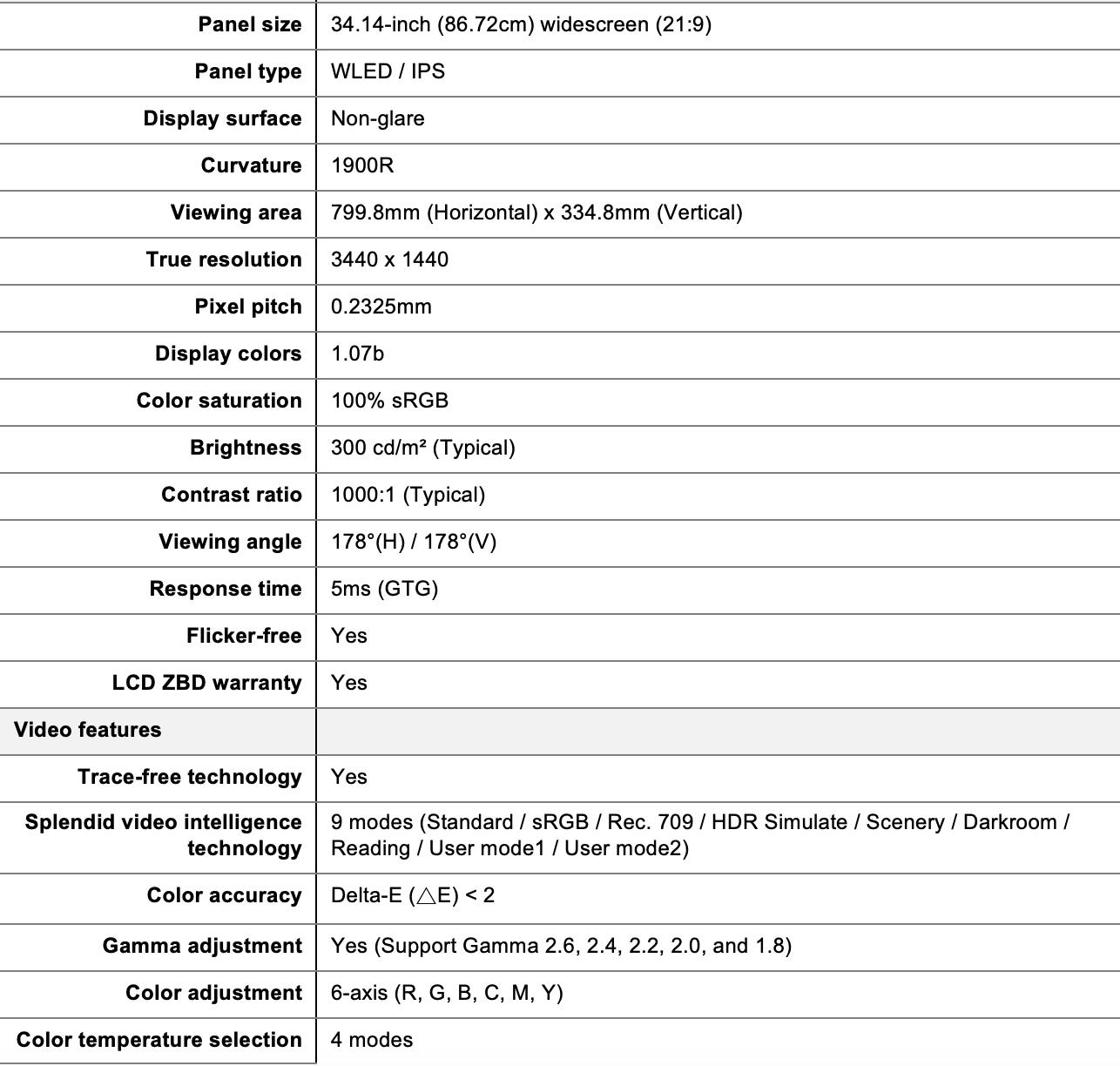 Resultado de imagen para ASUS Anuncia su Monitor Profesional Curvo ProArt PA34VC