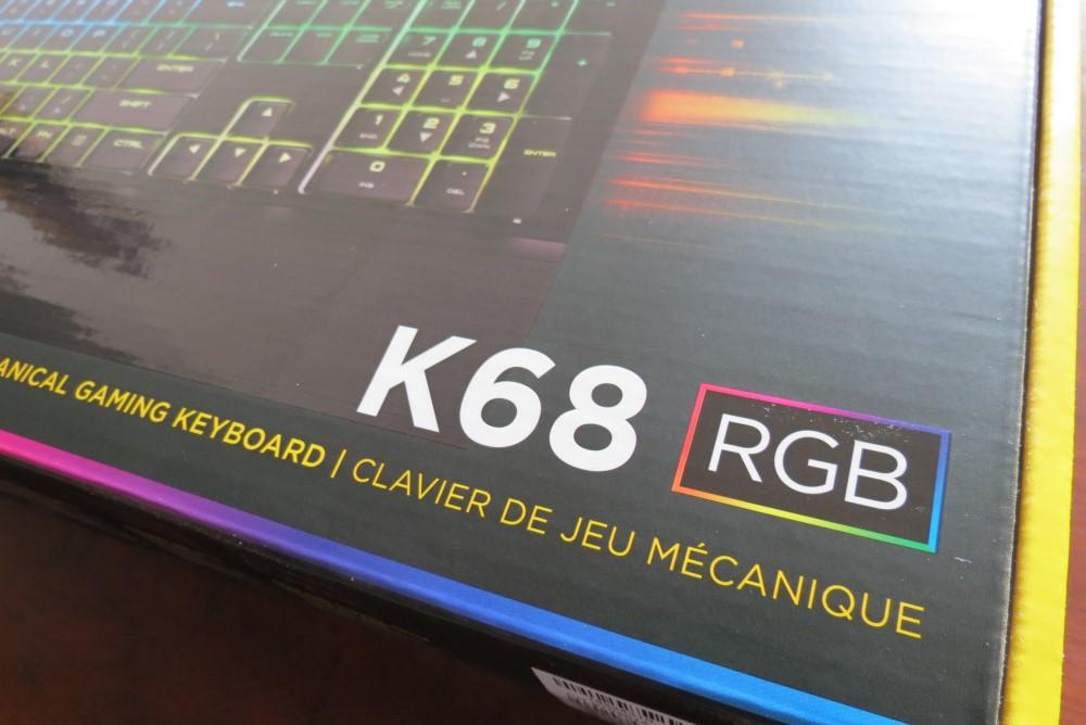 Teclado Corsair K68 RGB (Rapidfire)