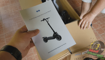 FLJ T113 11inch electric scooter unboxing 2b