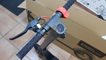 Turboant X7 Handlebars Installed