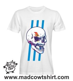 020 teschio3 tshirt bianca uomo