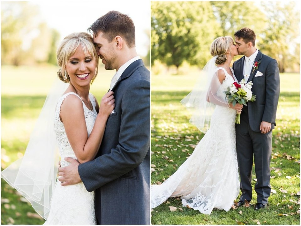 Bride and groom embracing for photos | Maddie Peschong Photography