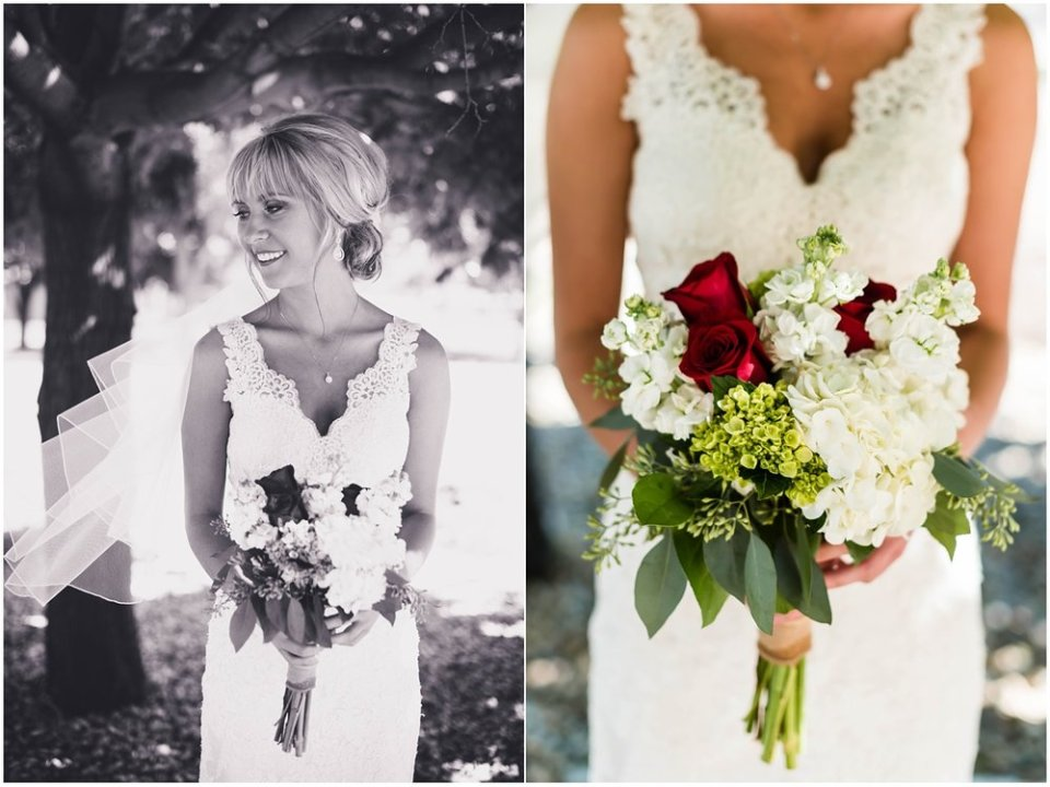 Fall bridal bouquet in portraits | Maddie Peschong Photography