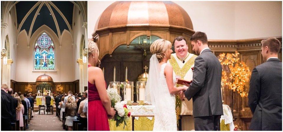 Fall South Dakota Church Wedding Ceremony | Maddie Peschong Photography