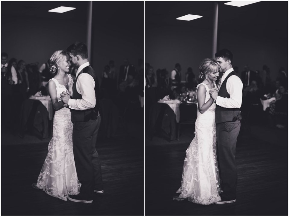Black and white first dance photos | Maddie Peschong Photography