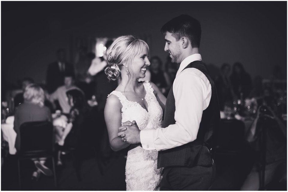 Bride and groom black and white reception photos | Maddie Peschong Photography