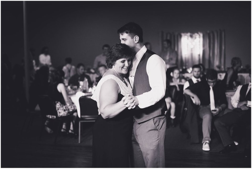 Groom and mother reception dance photo | Maddie Peschong Photography