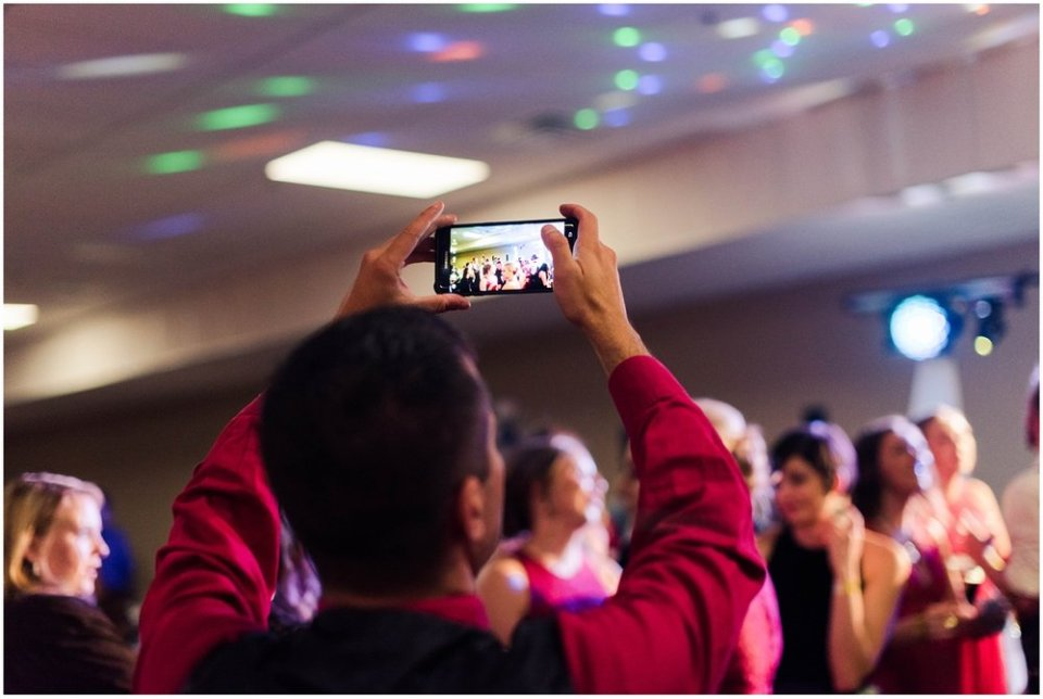 Videoing wedding reception | Maddie Peschong Photography