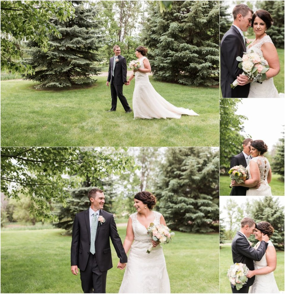 Bright, spring, greenery bride and groom portraits | Maddie Peschong Photography