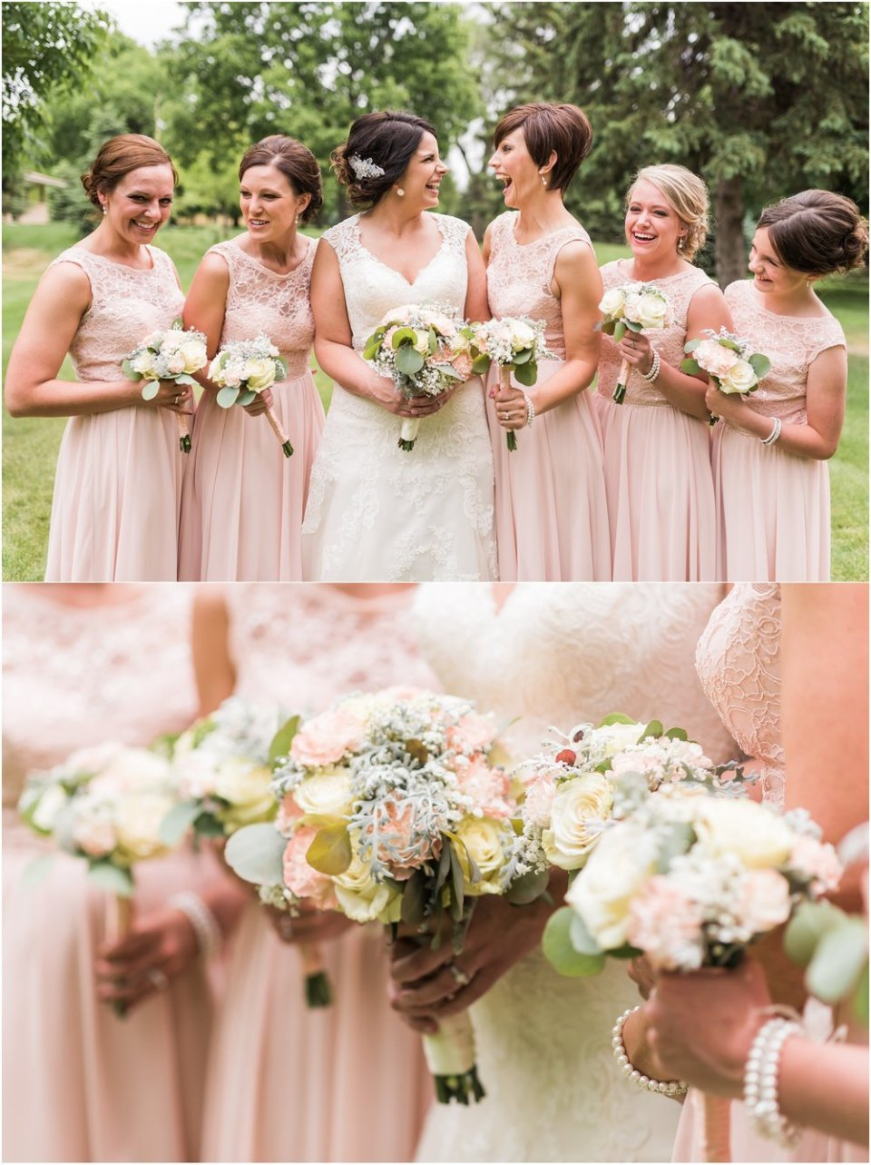 Blush bridesmaid dresses and photos | Maddie Peschong Photography