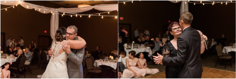 Bride and groom parent dances at wedding reception | Maddie Peschong Photography