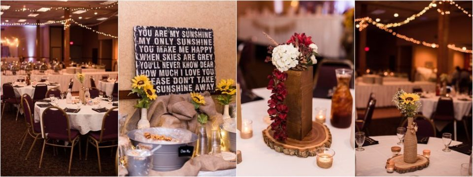 table centerpieces at wedding