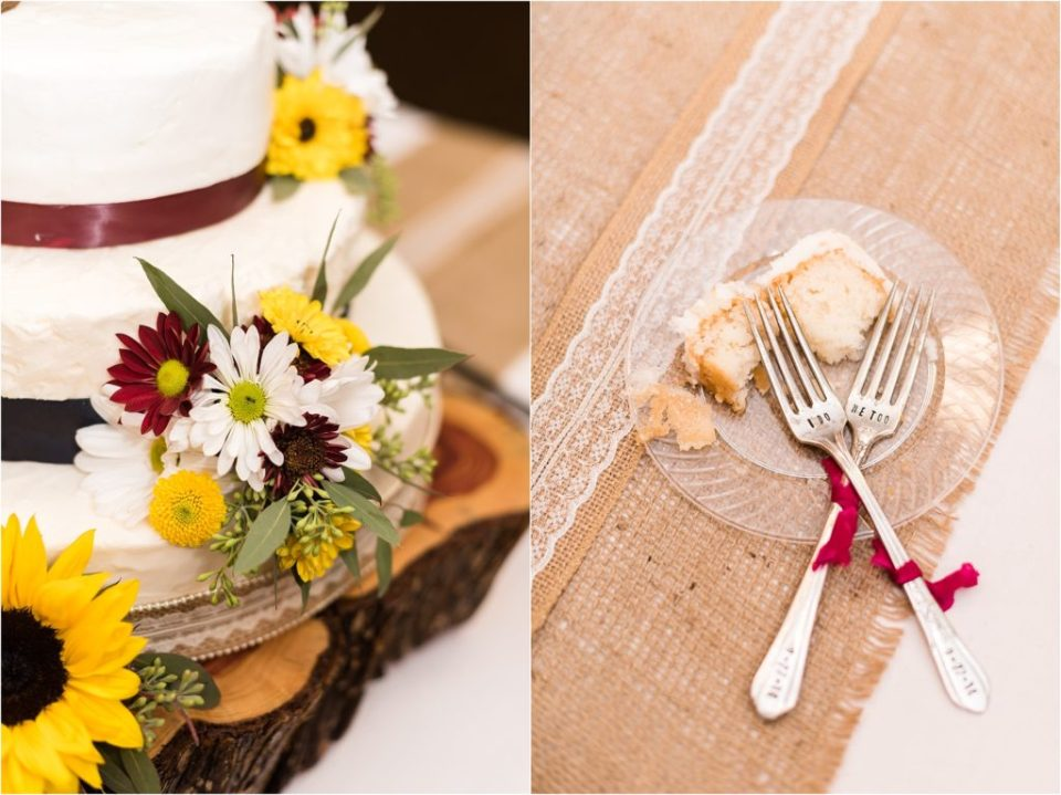 wedding cake and forks
