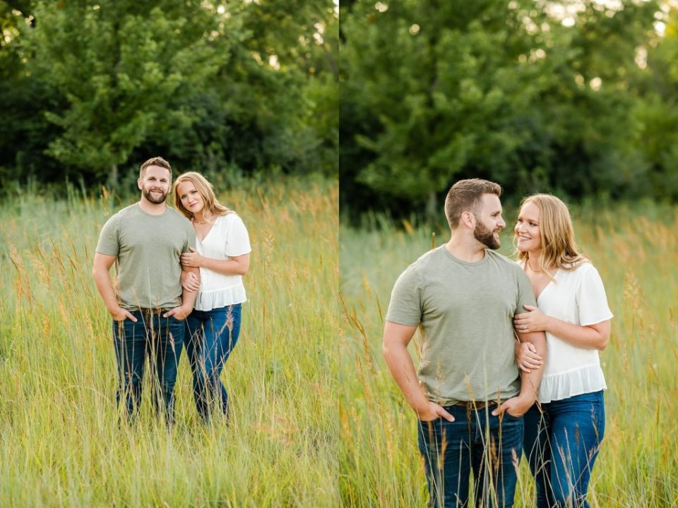 sunset engagement photos sioux falls