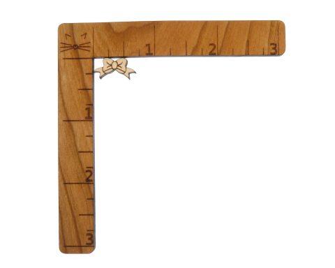 Bows Engraved Wood Cabochons
