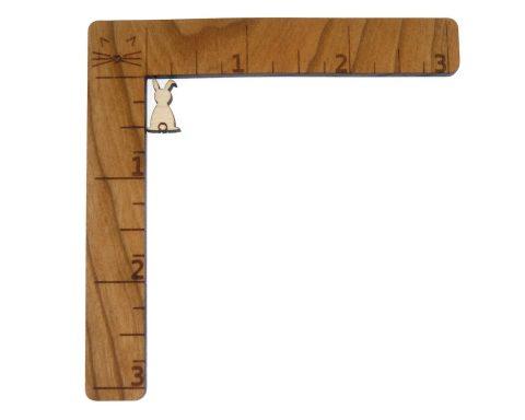 Bunny Back Engraved Wood Cabochons