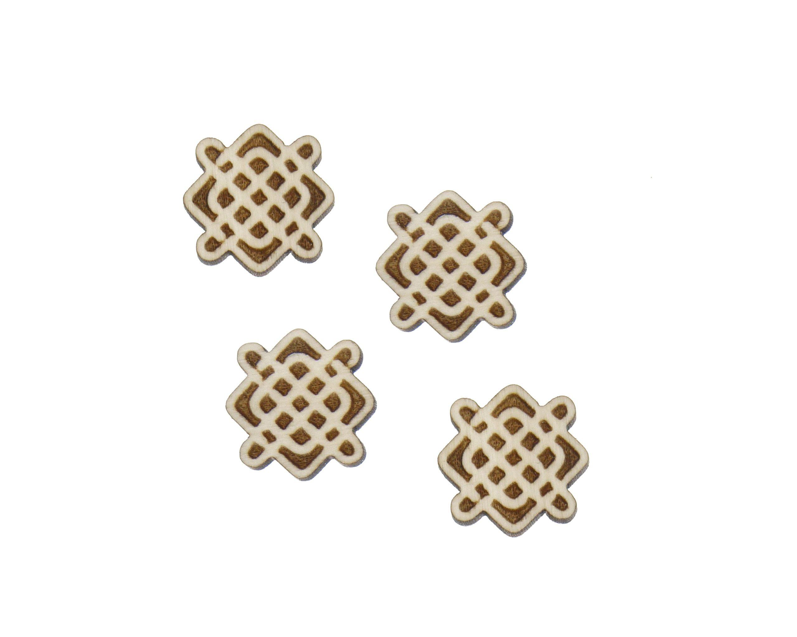Celtic Knots 02 Engraved Wood Cabochons