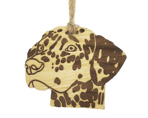 Dalmatian Dog Maple Wood Ornament   Hand Drawn