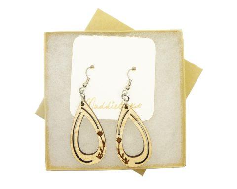 Floral Maple Hardwood Earrings