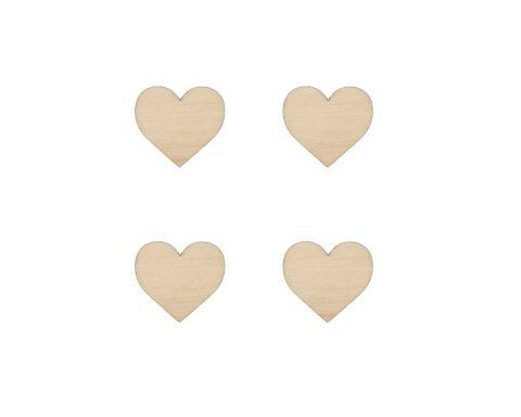 Hearts Blank Wood Cabochons