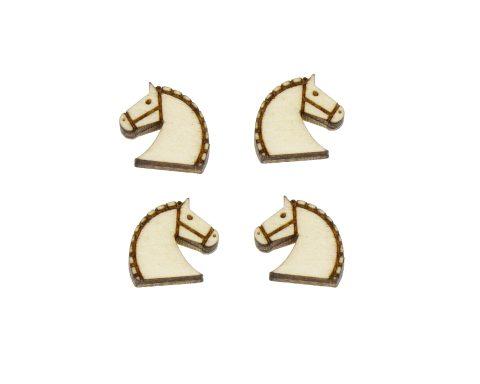 Horses Engraved Wood Cabochons