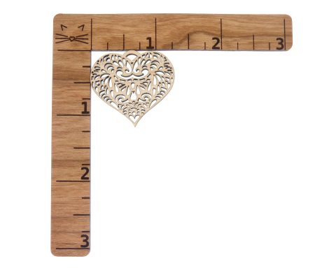 Hearts Blank Wood Drop Charms