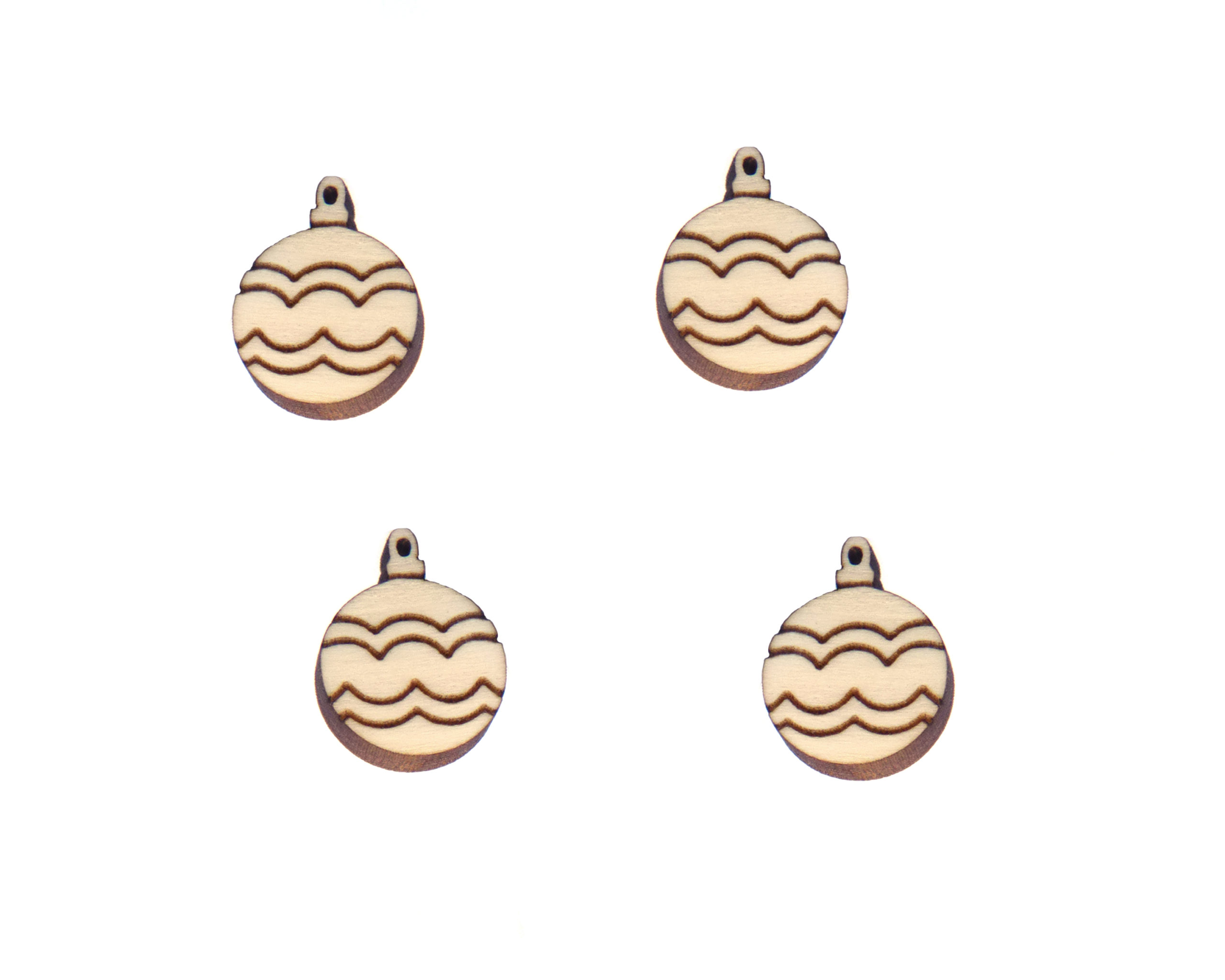 Ornaments Engraved Wood Cabochons