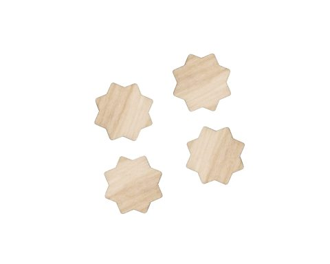 Overlapping Squares Blank Wood Cabochons