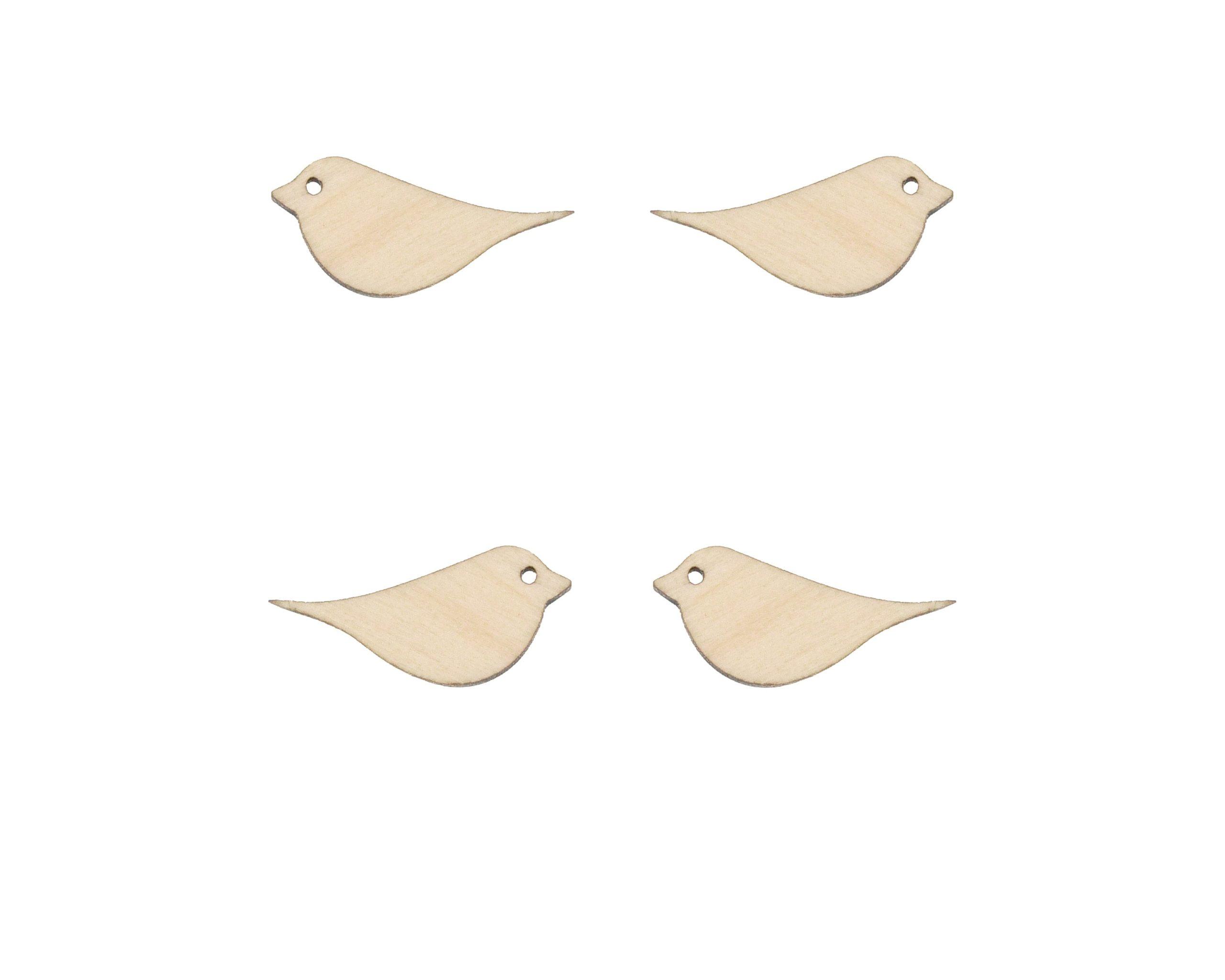 Birds Blank Wood Cabochons
