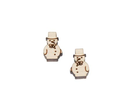 Snowman 04 Engraved Wood Cabochons
