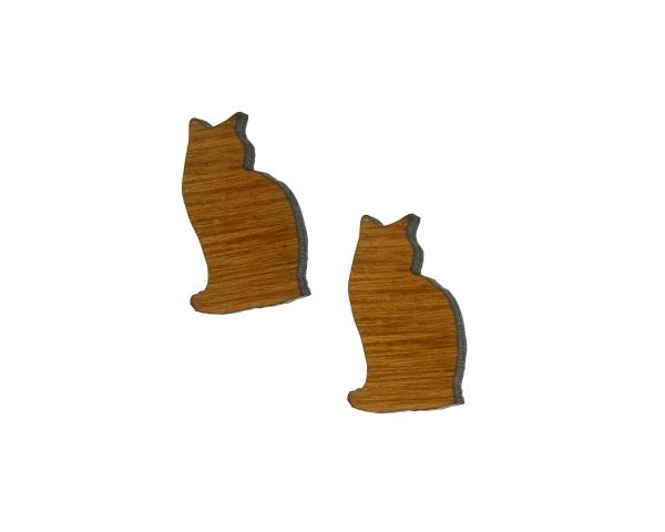 Cat Silhouette Stud Earrings - Choose